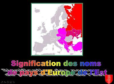 Origine des noms – Pays de l'Est