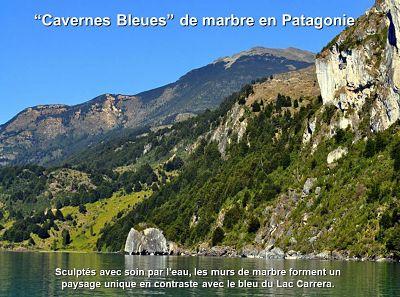 Cavernes bleues de marbre – Patagonie