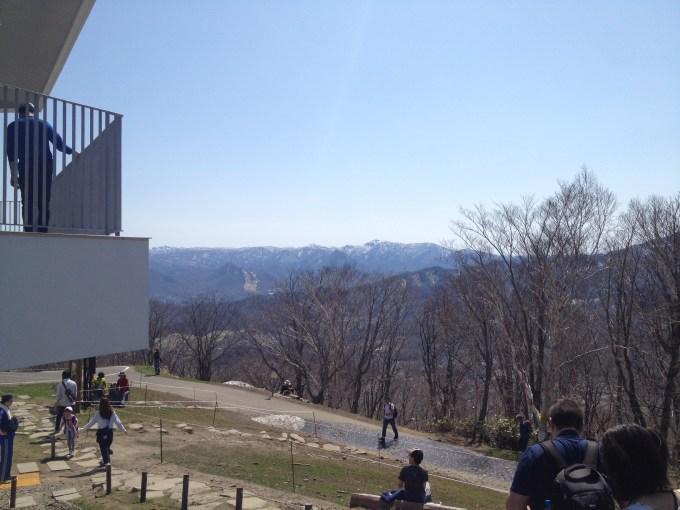 藻岩山頂上の反対側の景色