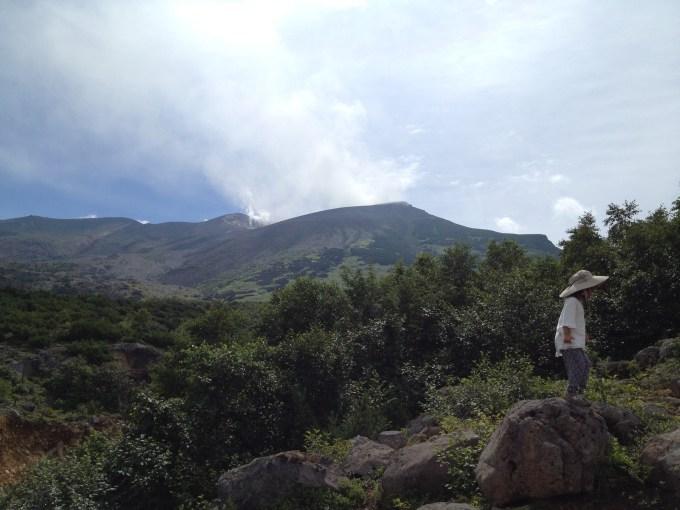 十勝岳の景色