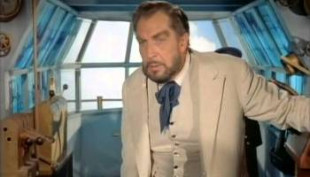 Vincent Price as Robar, captain of the Albatross, The Master of the World