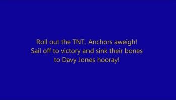 Song lyrics to Anchors Away, written by Joyce Eilers / Bob Lowden