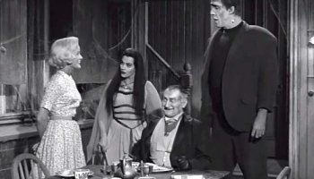 Marilyn, Lily, Grandpa, and Herman Munster