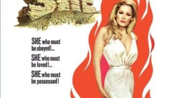 She, starring Ursula Andres, Peter Cushing, Christopher Lee