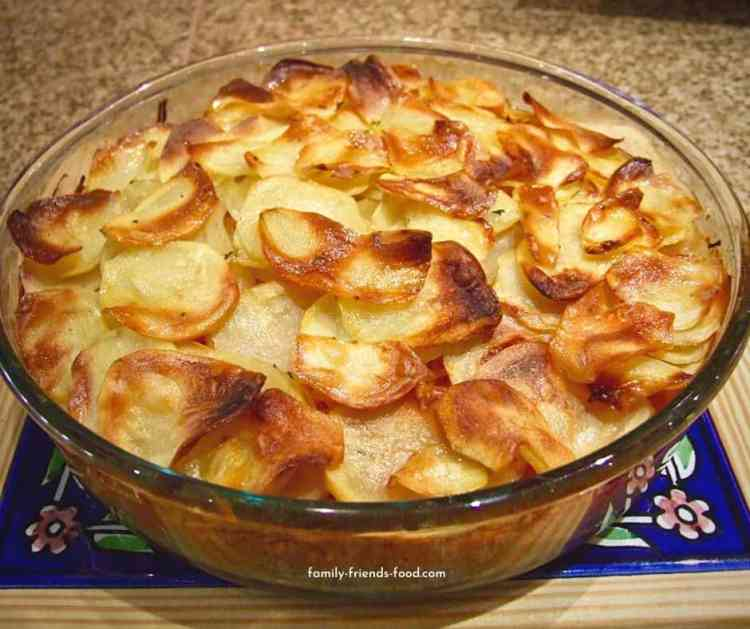 potato carrot layer bake.