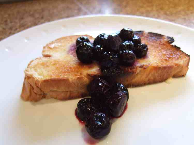blueberry compote on toast