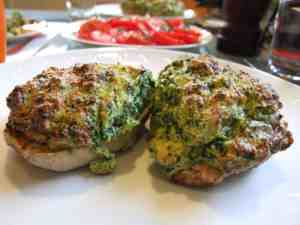 Spinach souffle potatoes