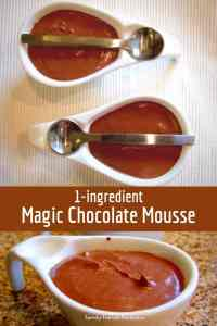 1 ingredient magic chocolate mousse.