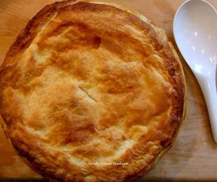 cod and sweetcorn puff pastry pie