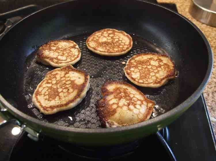 Pancakes in Green Earth pan.