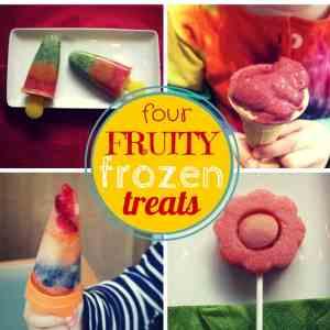 Four fruity frozen treats