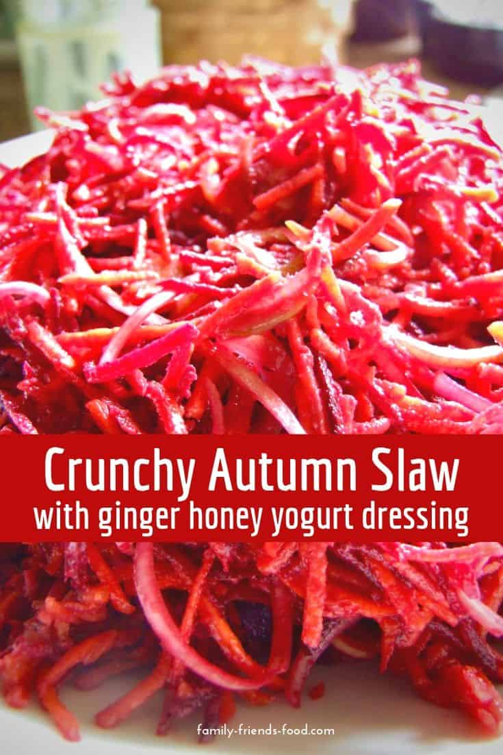 A delicious salad of carrots, beets & leeks in a tangy, creamy dressing. Perfect for any autumnal mealtime. A beautiful & tasty side dish.