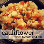 cauliflower with tomato & dill