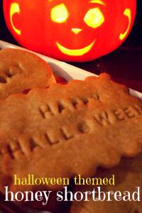 honey shortbread for halloween