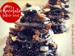 Easy festive chocolate Christmas trees