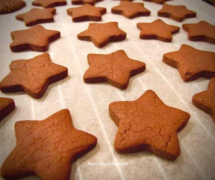 nutella shortbread stars.