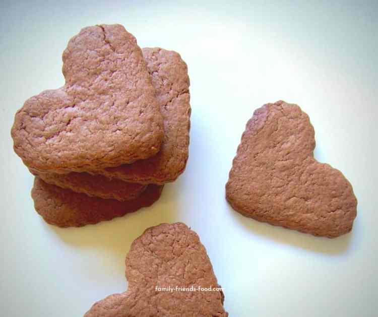 nutella shortbread hearts.