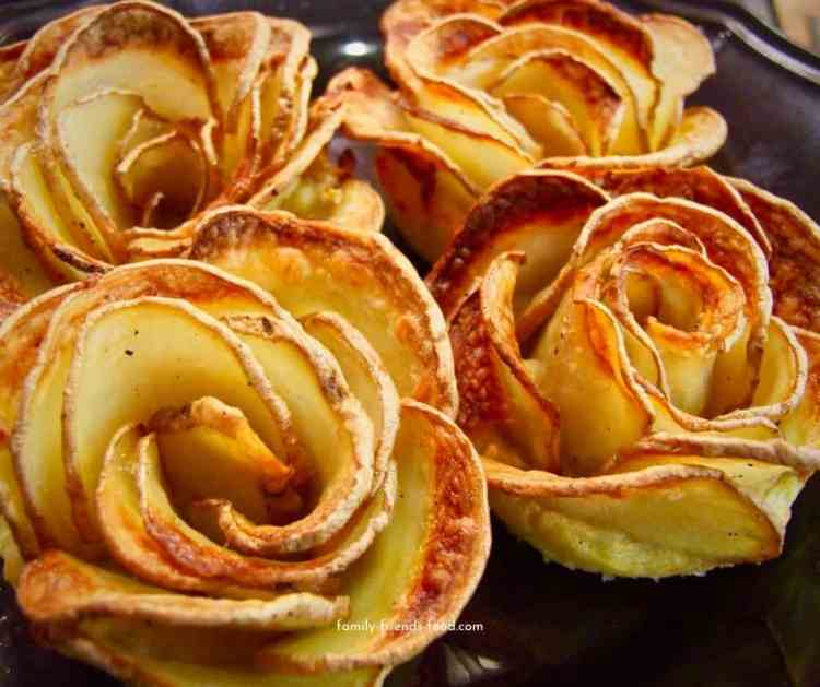 potato roses close up.