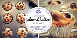 almond butter cupcakes