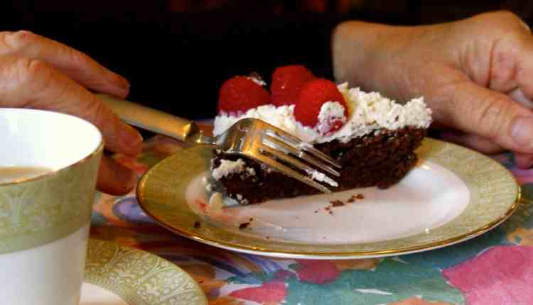 Super-low-carb, sugar-free, gluten-free, nut-free, grain-free, dairy-free delicious chocolate birthday cake!