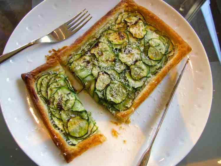 creamy courgette puff pastry tart