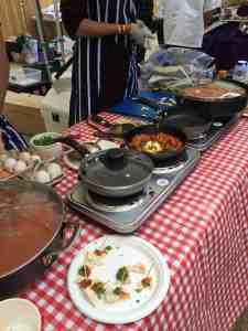 shakshuka cooking