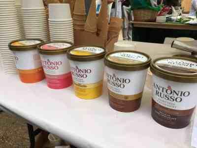 Antonio Russo cartons - dairy free ice-cream