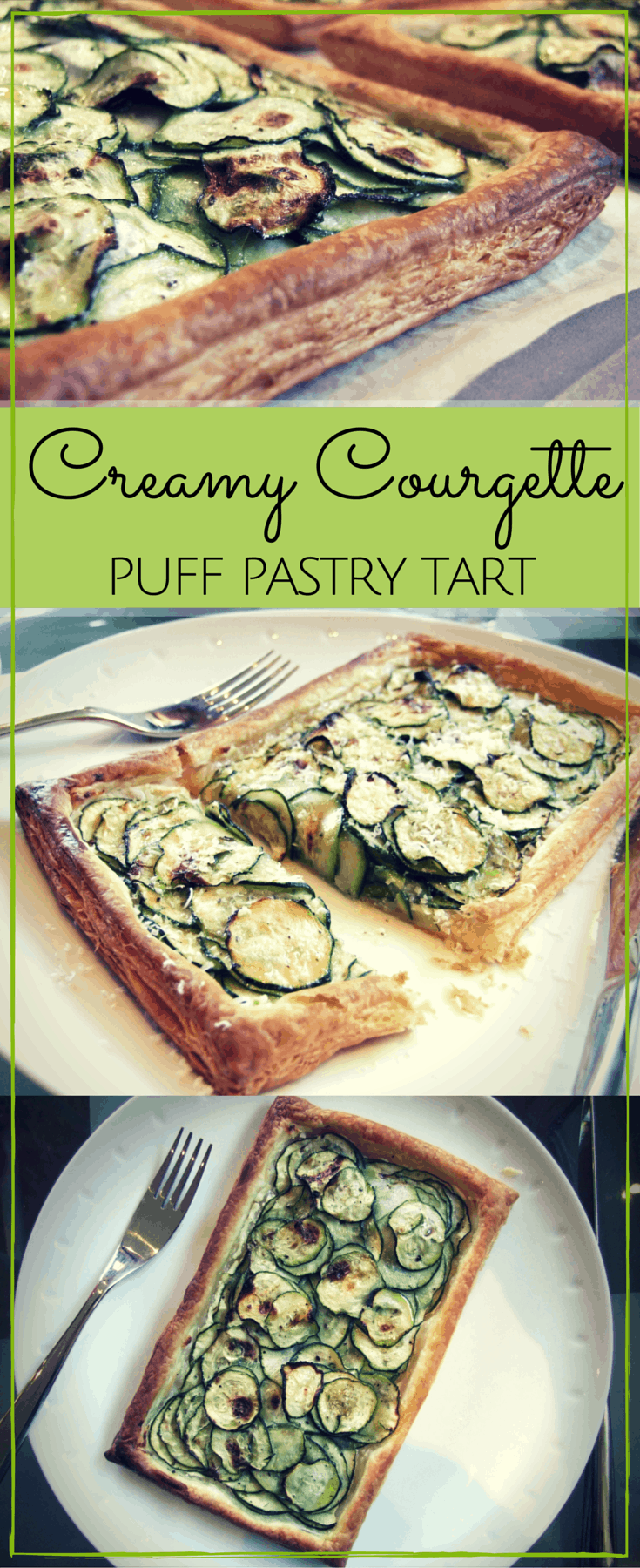 Layers of tender courgette (zucchini) slices top this delicious puff pastry tart. Easy to make & full of flavour! Serve with salad for a quick family meal.