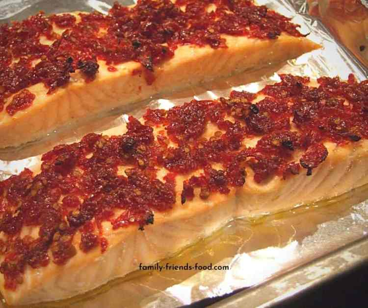salmon with sun-dried tomatoes