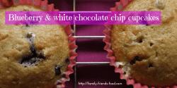 Blueberry & white choc cupcakes