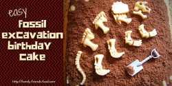 Easy fossil excavation birthday cake