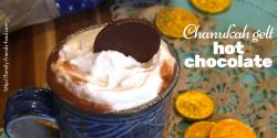 Chanukah gelt hot chocolate - rich, creamy and delicious, this indulgent hot chocolate is made with chocolate coins for a real Chanukah treat