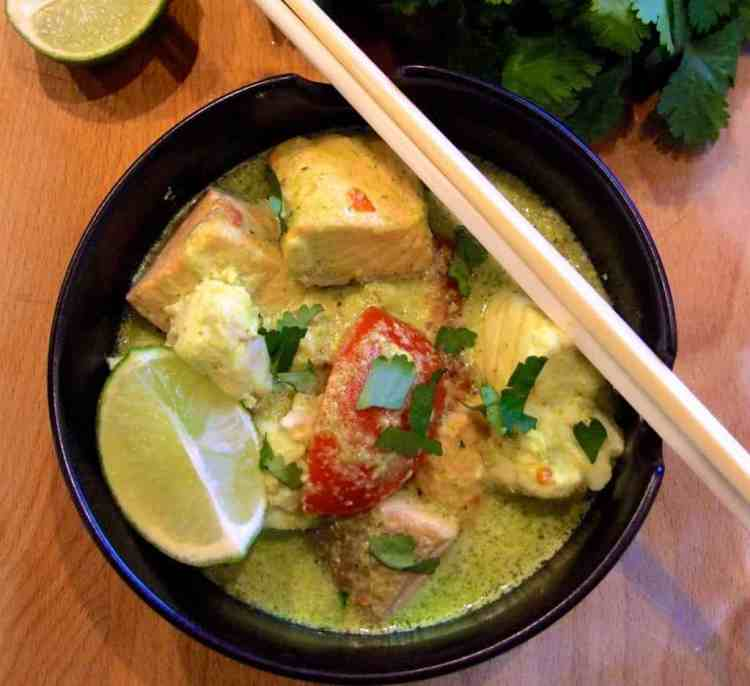 A deliciously nutritious coconut-milk fish curry flavoured with mood lifting spices and a tingle of chilli, will fill you up and make you feel A-MA-ZING!