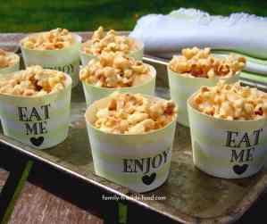 Cheesecake popcorn cups.
