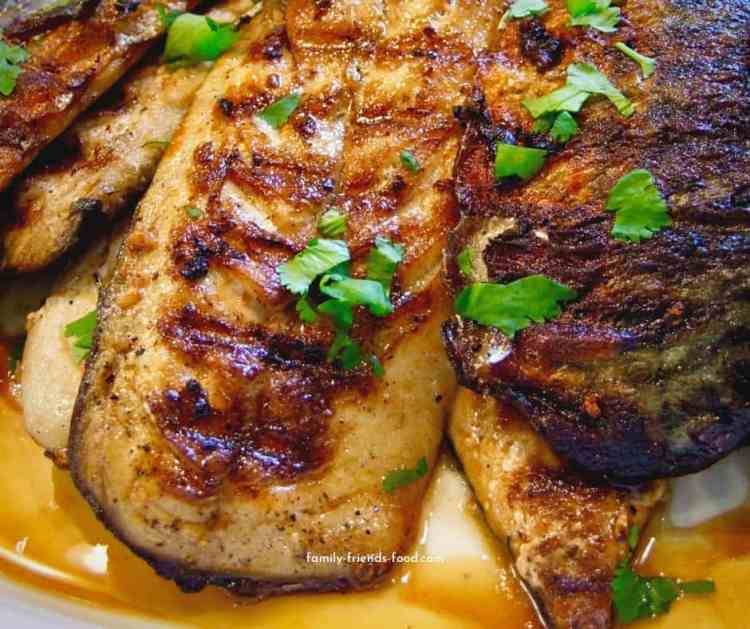grilled mackerel with garlic & lemon.