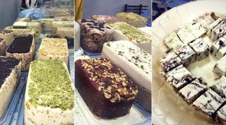 Halva at the Levinsky market