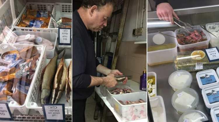 Lupo fish delicatessen in Tel Aviv's Levinsky market
