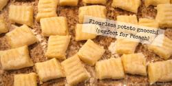 Delicious home-made potato gnocchi contain no wheat flour and are naturally gluten-free. Choose from plain or cheesy options for a satisfying family meal.