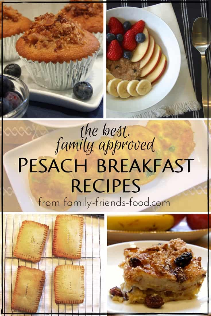 Start your Passover days right with this selection of delicious family-approved breakfasts, including pancakes, porridge, muffins and more! #Pesach #Kosher