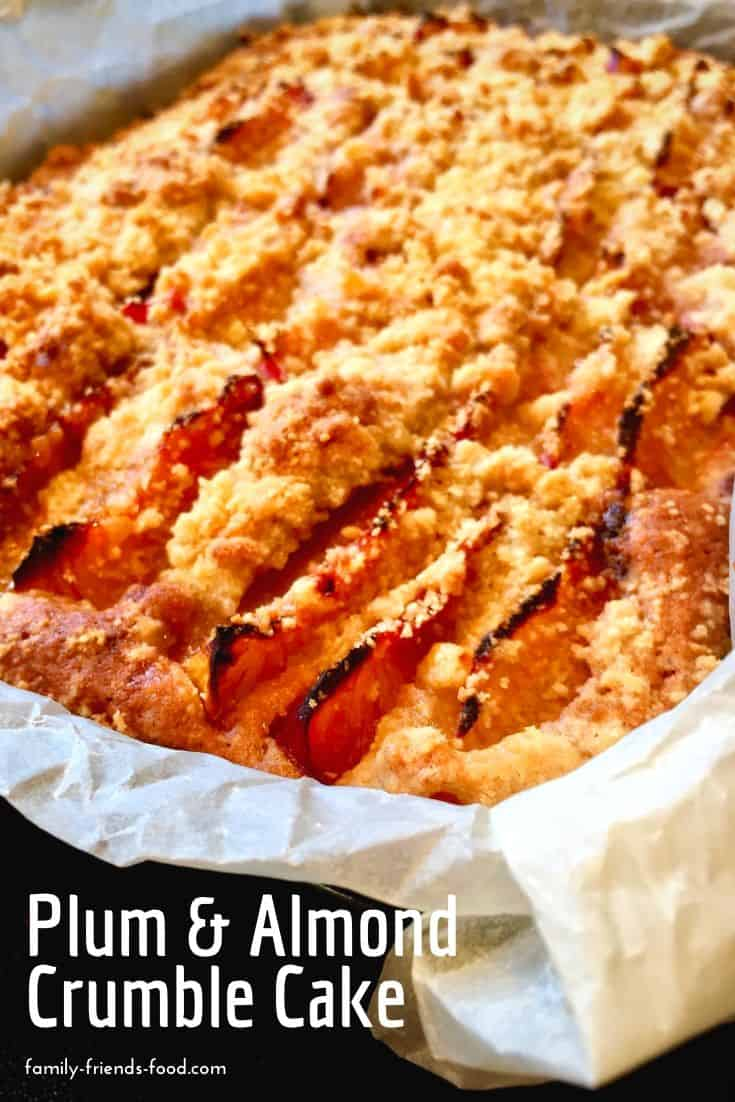 plum and almond crumble cake.
