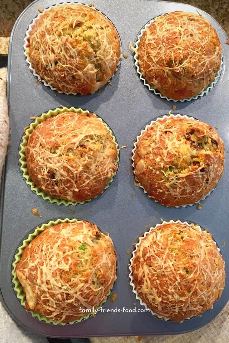 Sun-dried tomato and pesto savoury muffins.