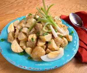 Curried potato salad.
