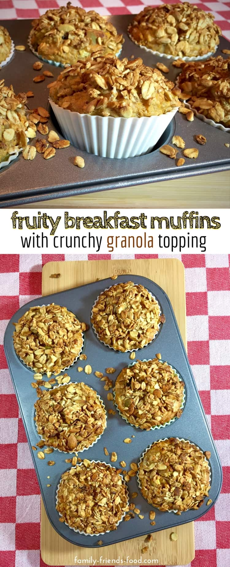 Packed with fruit & veg, these deliciously moist breakfast muffins are low in fat and contain no added sugar. A perfectly healthy start to the day!