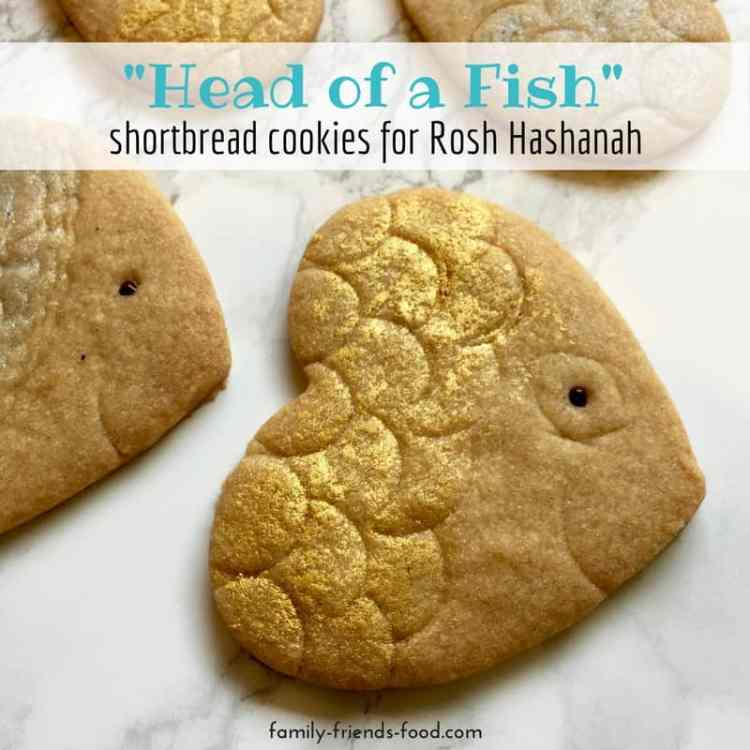head of a fish shortbread cookie