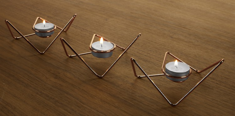 Loop Maison Tri-Angular tealight holders