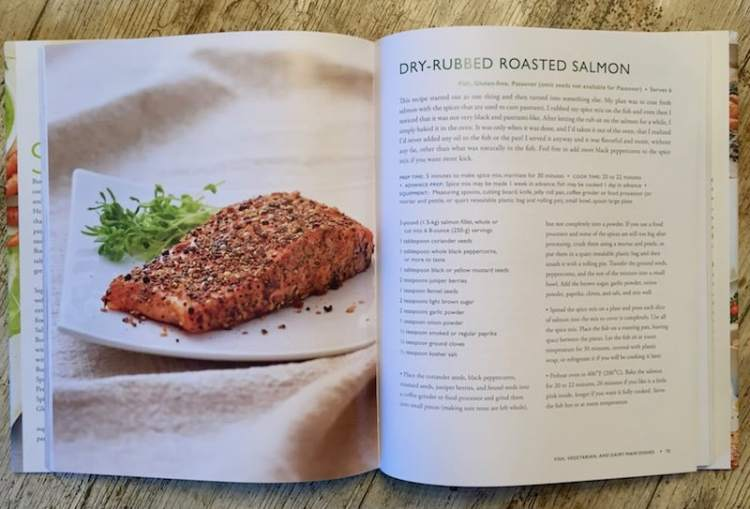 A simple-to-prepare recipe for roasted salmon fillets coated with a delicious layer of freshly crushed spices. Taken from The Healthy Jewish Kitchen by Paula Shoyer - read the full book review here!