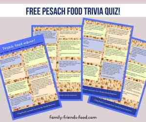 free pesach food quiz