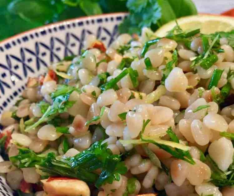 couscous salad - close up