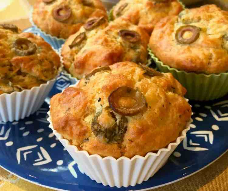 cheese & olive muffins.