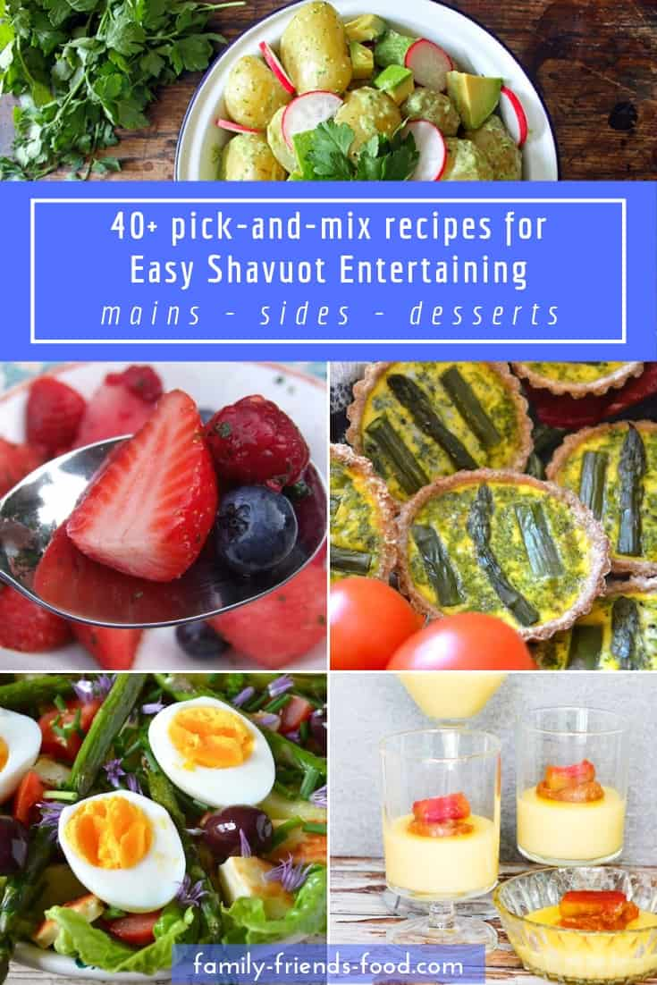 40+ recipes ideal for easy Shavuot entertaining. Make light work of Shavuot entertaining with a handy pick-and-mix menu planner! Easy recipes for delicious prepare-ahead main dishes, salads and desserts.